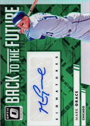 2016 Donruss Optic Back to the Future #BTFMG Auto Green SN#2/5