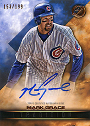 2016 Topps Legacies of Baseball #TRA-MG Tradition Autograph SN#153/199