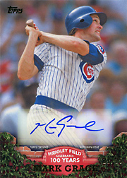 2016 Topps #WRIGA-MG Wrigley Field Celebrates 100 Years Auto SN#21/25