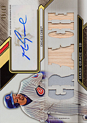 2016 Topps Triple Threads #TTAR-MG3 Autograph Relics Gracie Auto/Jersey/Bat SN#09/18