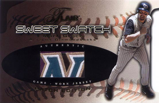2002 Fleer Flair #NN Sweet Swatch Patch Edition Boxtopper SN#41/75