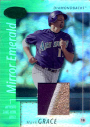 2002 Leaf Certified Materials #63 Mirror Emerald Patch SN#1/5