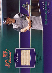 2002 Playoff Piece of the Game #POG-56 Bronze Bat SN#182/250