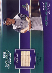2002 Playoff Piece of the Game #POG-56 Silver Bat SN#049/100