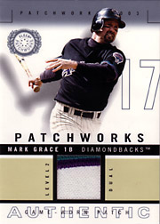 2003 Fleer Patchworks #MG-PW Level 2 Dual Color Patch SN#005/100