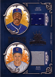 2004 Donruss Diamond Kings #TT8 Team Timeline Dual Jerseys SN#24/25 with Andre Dawson
