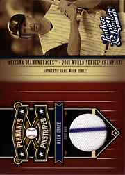 2004 Donruss Leather & Lumber #PP-8 Pennants Pinstripes Jersey SN#155/250
