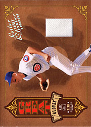 2005 Donruss Leather & Lumber #GG-4 Great Gloves Jersey SN#50/50