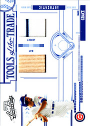 2005 Playoff Absolute Memorabilia #TT-83 Tools of the Trade Blue Bat/Jersey SN#27/50