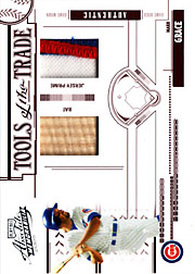 2005 Playoff Absolute Memorabilia #TT-83 Tools of the Trade Red Bat/Patch SN#06/10