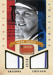 2013 Panini America's Pastime Trading Swatches Gold SN#05/10
