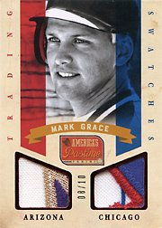 2013 Panini America's Pastime Trading Swatches Red SN#08/10