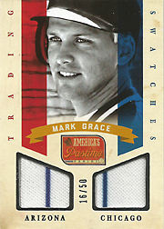 2013 Panini America's Pastime Trading Swatches Silver SN#16/50
