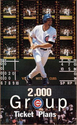 2000 Cubs Group Ticket Plans Brochure