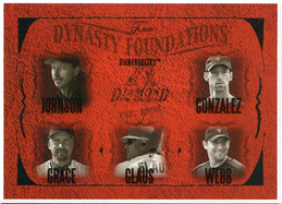 2005 Fleer Flair Dynasty Foundations #2DF Pre-Production Card (Never Released) Front