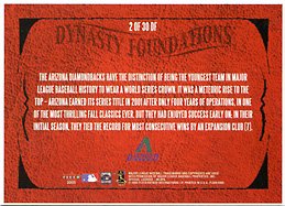 2005 Fleer Flair Dynasty Foundations #2DF Pre-Production Card (Never Released) Back