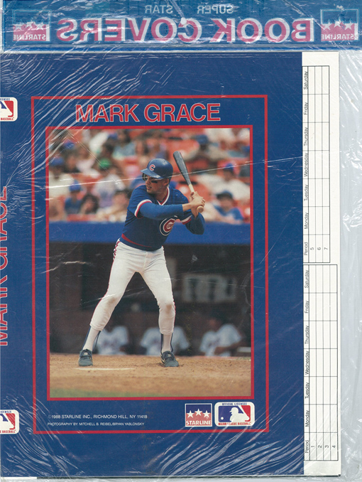 1988 Starline Super Star Book Covers 3-Pack w/Don Mattingly, Will Clark