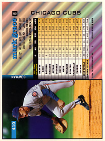 1994 Bowman Oversize Printer's Proof - Back
