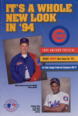 1994 Chicago Cubs Uniform Preview Mailer