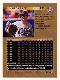 1997 Topps Gallery Oversize Printer's Proof - Back