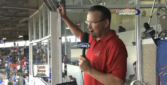 "Mark Grace Sings ""Take Me Out to the Ballgame"""
