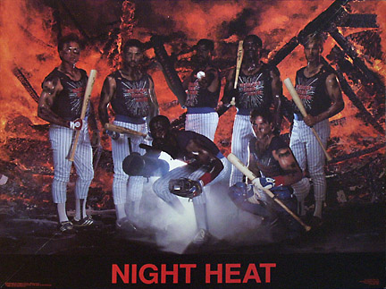 Night Heat Cubs Poster